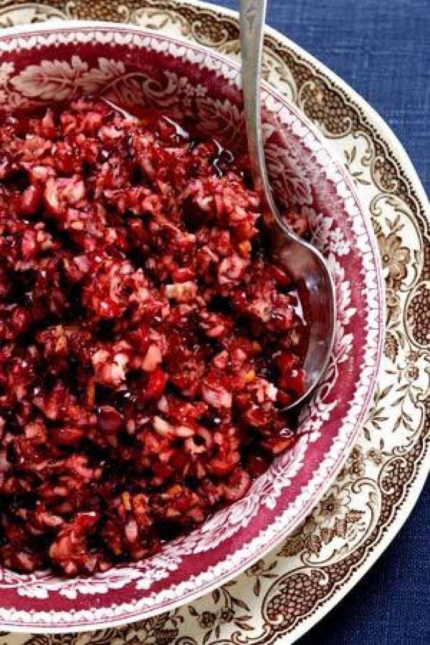 Cranberry-tangerine relish