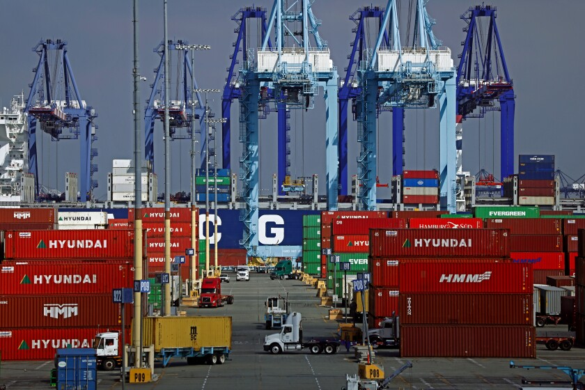 A scene at the Port of Los Angeles