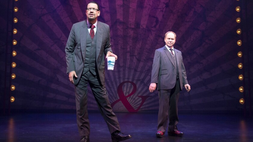Following their shows at the Rio, magicians Penn & Teller hold free meet-and-greets in the theater lobby.