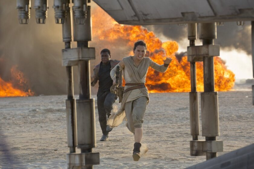 """""""Star Wars: The Force Awakens"""" is now the No. 2 highest-grossing film domestically of all time. The sci-fi adventure earned an estimated $34.5 million on New Year's Day."""
