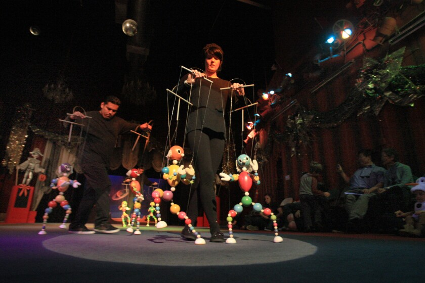 "Performers from Bob Baker Marionette Theater will take part in ""Family Day: Art Beyond Borders"" at the Hammer Museum."