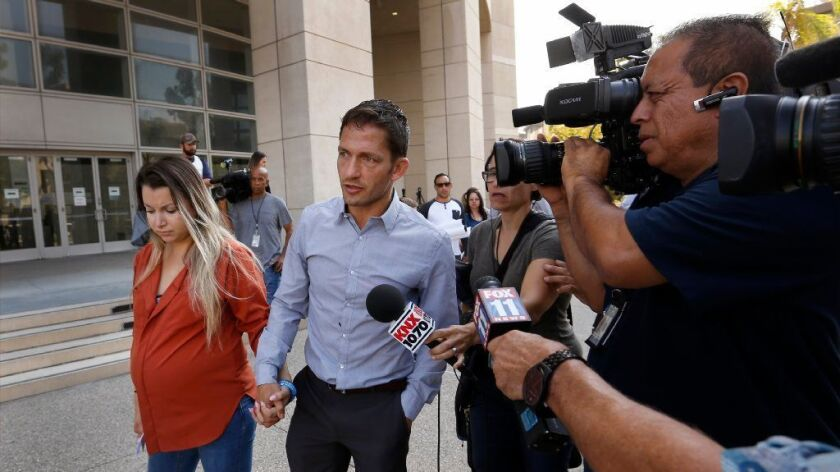 Marcus Kowal speaks to the media during a prior court hearing