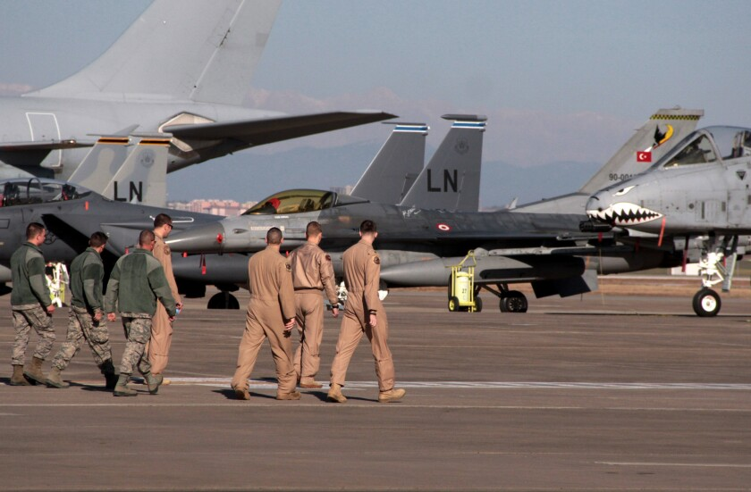 Sorties from Incirlik air base in Turkey