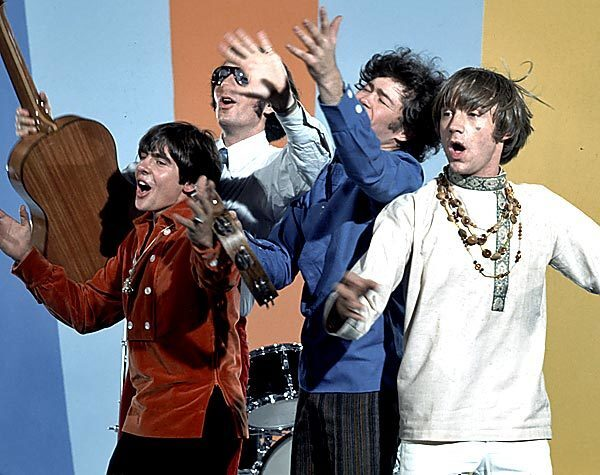 The Monkees. From l-r, Davy Jones, Mike Nesmith, Micky Dolenz and Peter Tork.
