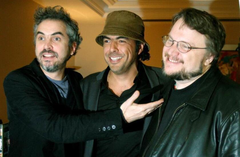 (i-d), Los directores Alfonso Quaron, Alejandro Gonzalez Iñarritu y Guillermo del Toro. EFE/Archivo