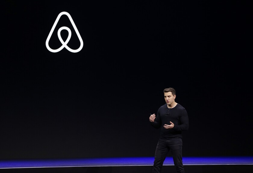 Airbnb co-founder and Chief Executive Brian Chesky at a San Francisco conference in 2014.