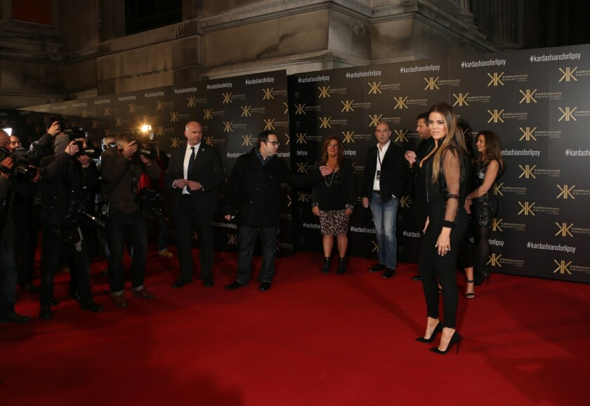 Khloe Kardashian arrives at the Natural History Museum in London for her Kardashian Kollection Lipsy launch party.
