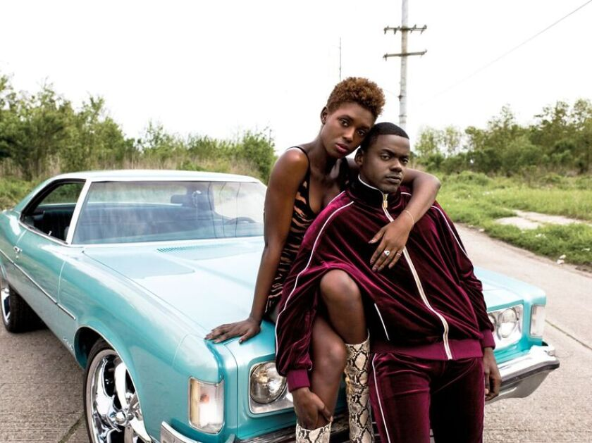 "Jodie Turner-Smith and Daniel Kaluuya in Universal's ""Queen & Slim."" The film will screen its world premiere during the AFI Fest opening night gala Nov. 14."