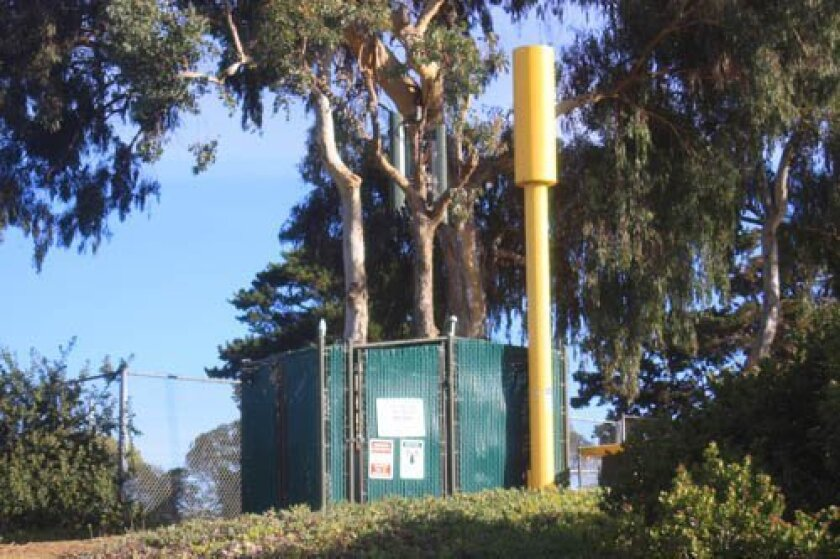 The current microtower at Cliffridge Park, though something larger is being proposed. Ashley Mackin