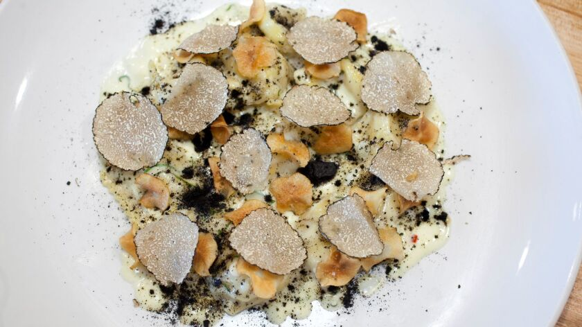 The lusciously truffely ricotta angolotti at Trust, in Hillcrest.