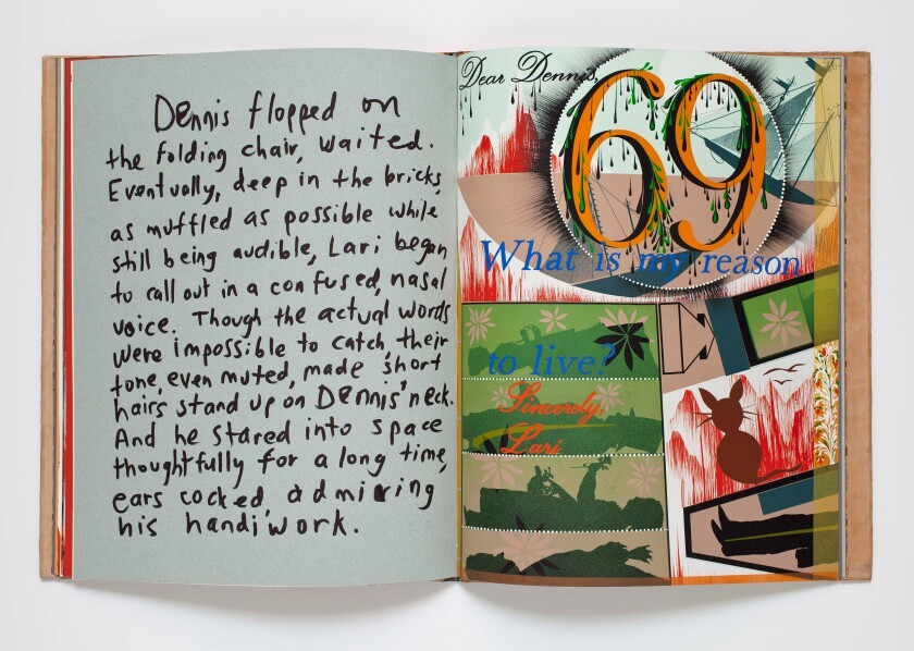 """Dennis Cooper, Jonathan Hammer, and Lari Pittman, have you seen . . . ,"" 1991, an artist book by Lari Pittman."