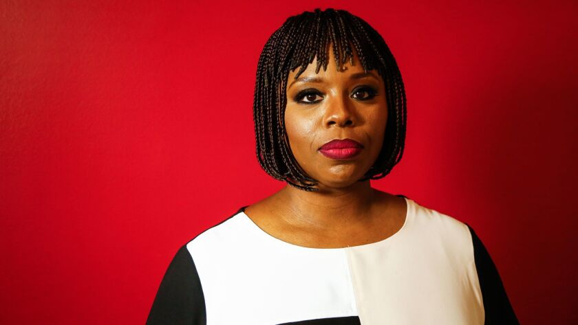 LOS ANGELES, CA-Aug. 15, 2017: Co-founder of Black Lives Matter Patrisse Cullors stands for a portra