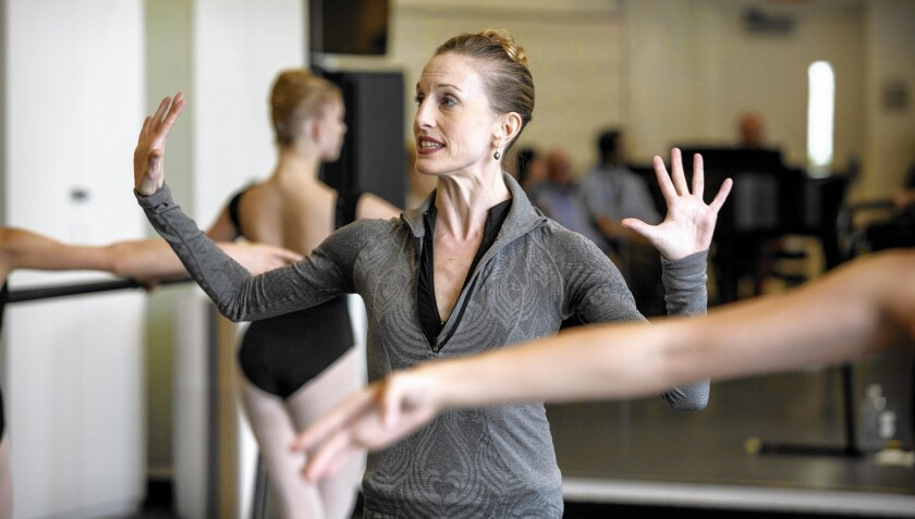 Wendy Whelan works with students at the Colburn Dance Academy on Oct. 31, 2014.