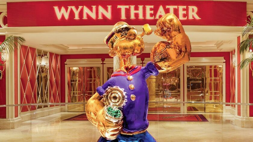 Popeye, the iconic sailor man of cartoon fame, has his own security guard at the Wynn.
