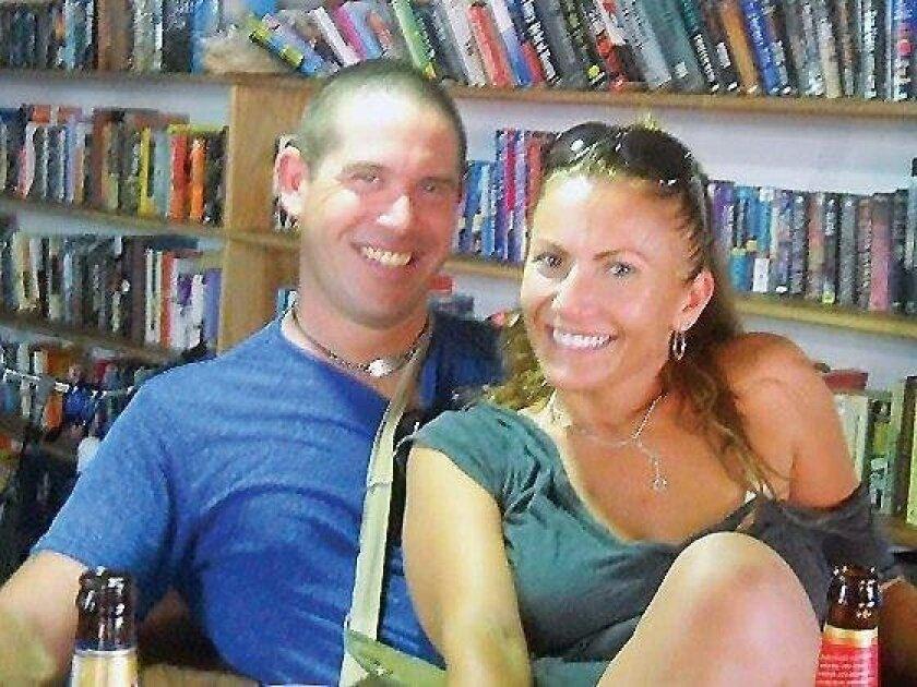 Brian Brimager and Yvonne Baldelli in Isla Carenero, Panama, in 2011.