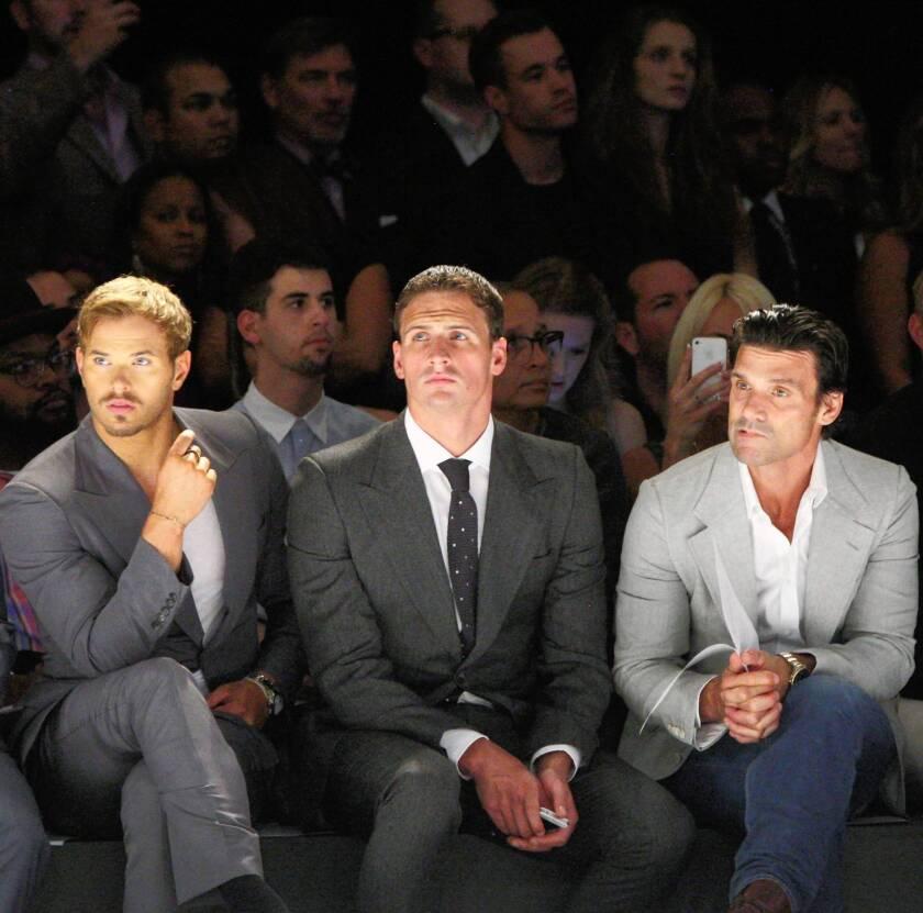Brad Richards, Kellan Lutz and Ryan Lochte