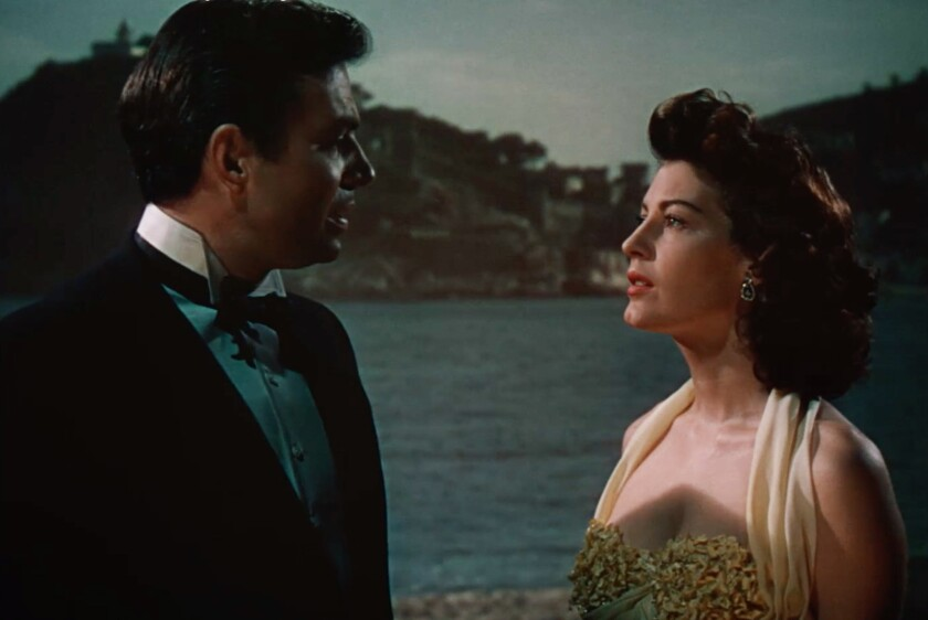 James Mason and Ava Gardner in the 1951 movie 'Pandora and the Flying Dutchman'