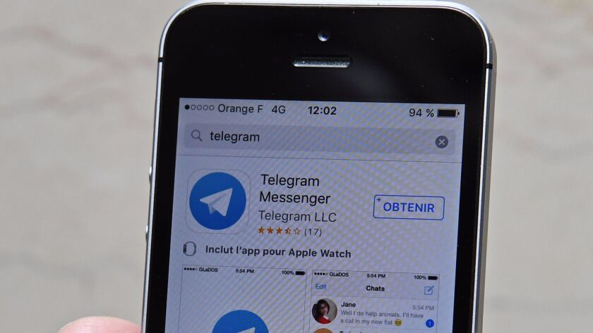 Messaging app Telegram allows people to exchange messages, videos and photos