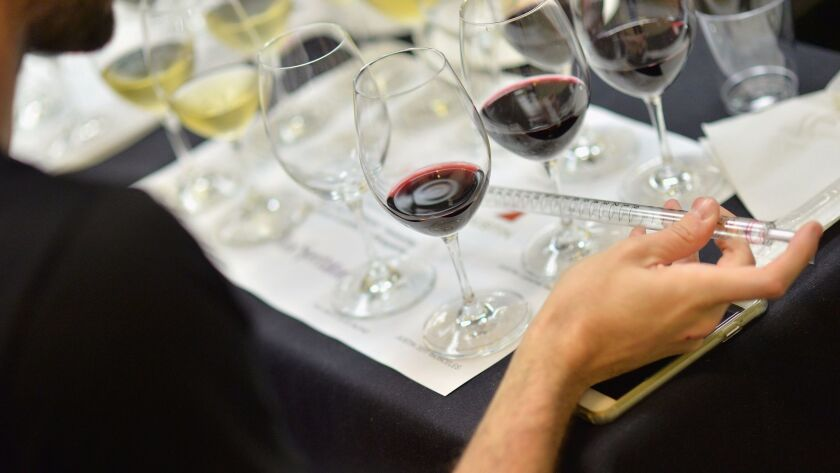 """Riedel Wine Glass on the display at Wine Spectator Wine Seminar """"Blending The Rules"""" in n Miami Beac"""