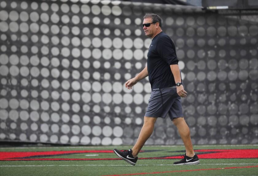 San Diego State head coach Brady Hoke is focused on getting Aztecs ready for opener against UNLV.
