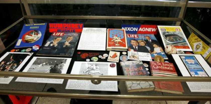 Baseball and unrest explored in exhibition at library