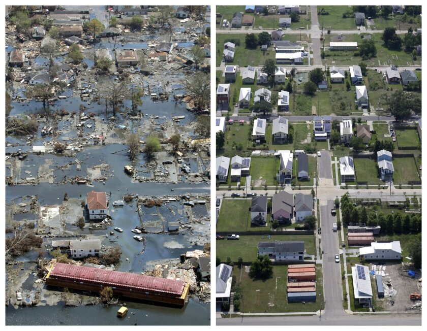 Hurricane Katrian then and now