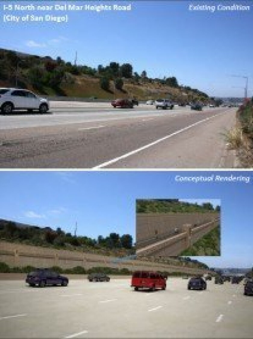 The I-5 widening project will include a new bike lane facility. Photo courtesy of Caltrans
