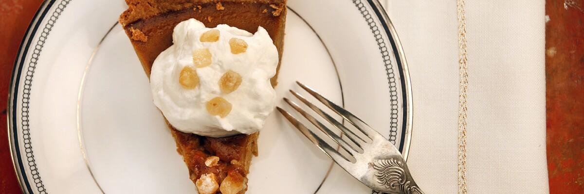 Spiced pumpkin pie.