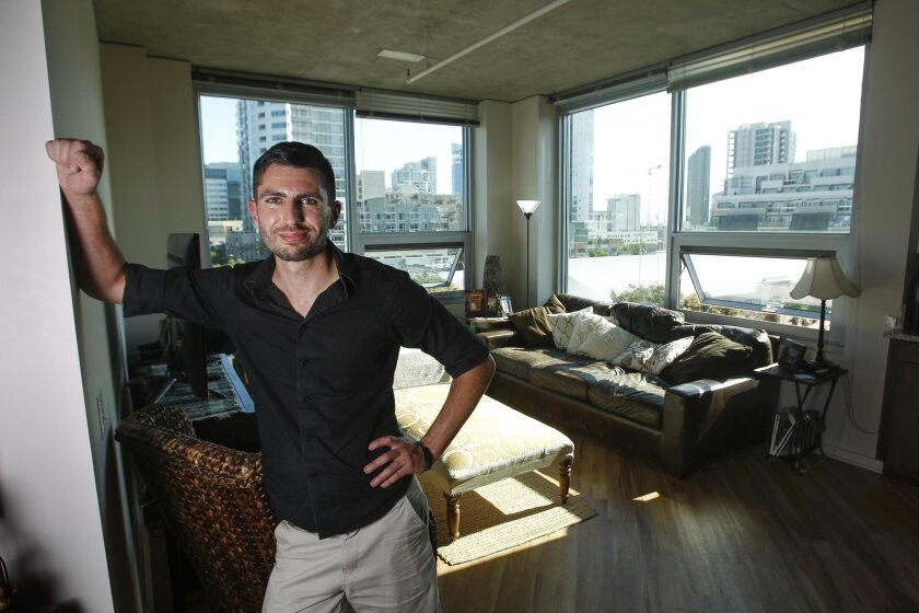 Franklin Coopersmith has moved personal belongings out of the East Village apartment he shares with a roommate to make room for a group of Comic-Con attendees renting the loft space for $900 a night.
