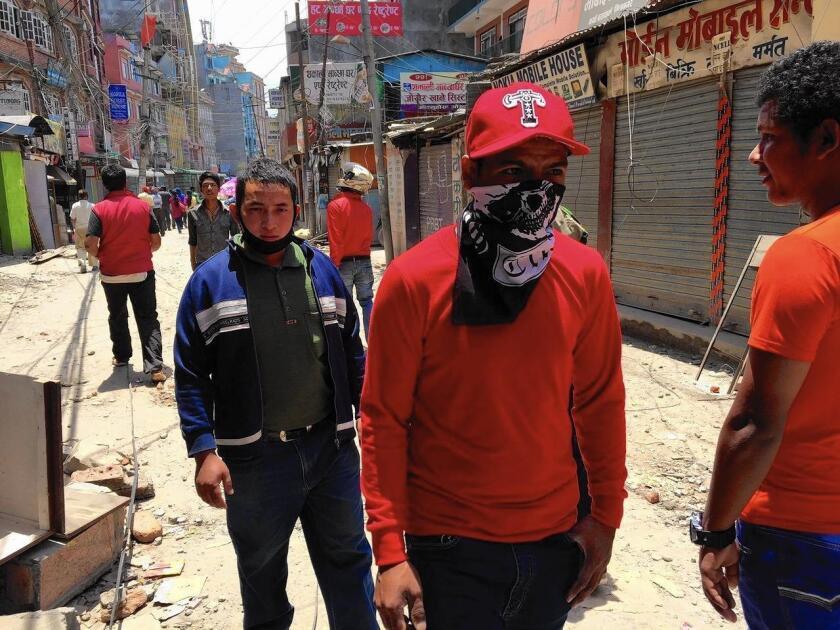 Quake damage in Katmandu