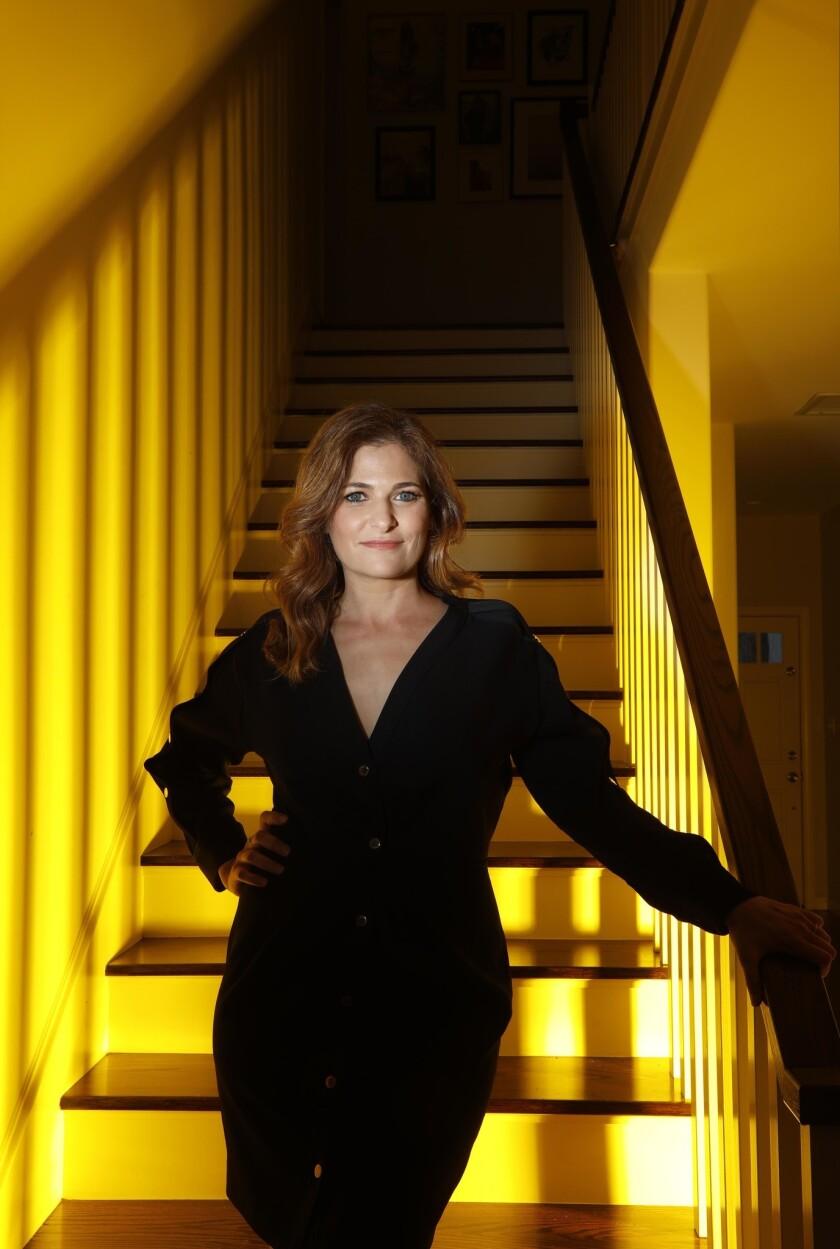 "STUDIO CITY, CA - APRIL 22, 2019 - - Andrea Berloff, wrote and directed the movie, ""The Kitchen."" Th"
