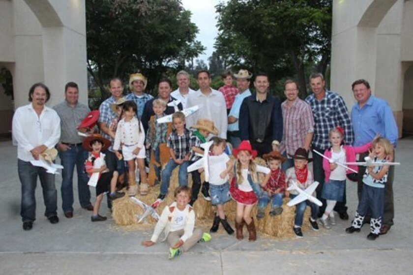 Just a few of the Dads and their Cowboys and Cowgirls rounded up after making model airplanes together at the Horizon Prep Early Education Program Annual Dad's Night! Back Row: Michael Holleran, Chase Casson, Patrick Mead, Scott Schreckengaust, Eric Brandt, Paul Phillips, Brent Joseph, Zeke and Har
