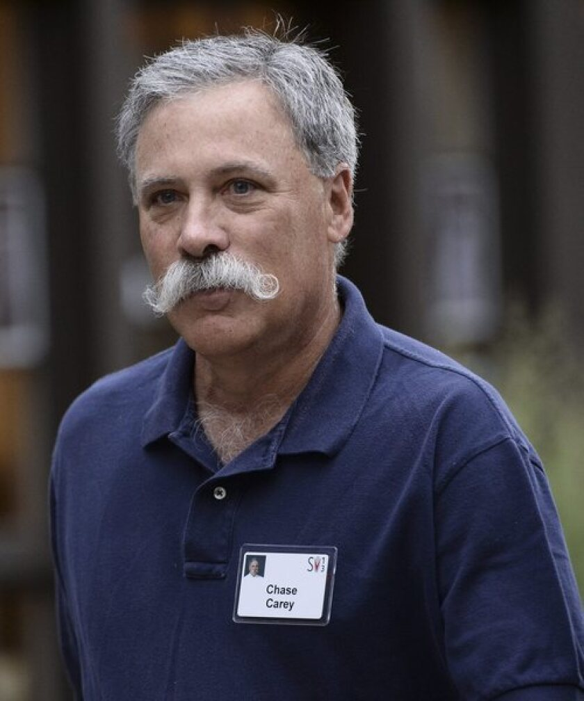 Chief Operating Officer Chase Carey was paid $32.5 million as part of 21st Century Fox's long-term incentive program. Above, Carey attends the Allen & Co. media conference, in Sun Valley, Idaho.