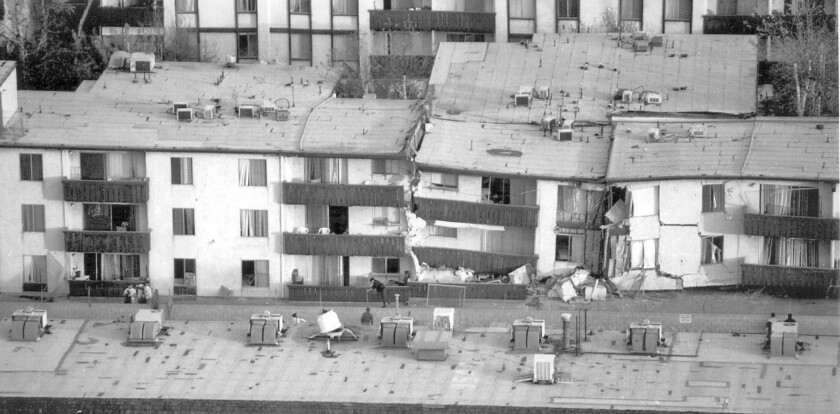 Northridge Meadows apartments after Northridge earthquake