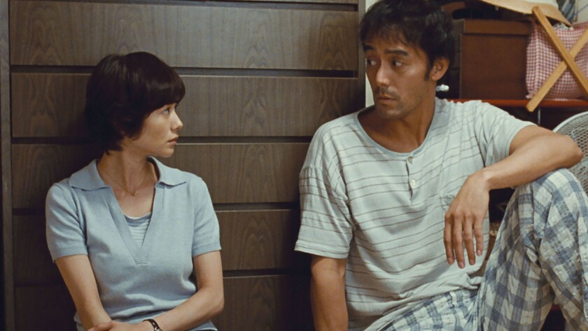 """Yoko Maki and Hiroshi Abe in the movie """"After the Storm."""""""