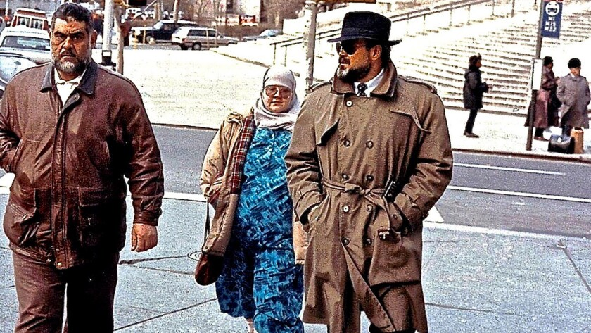 Emad Salem, right, working undercover.
