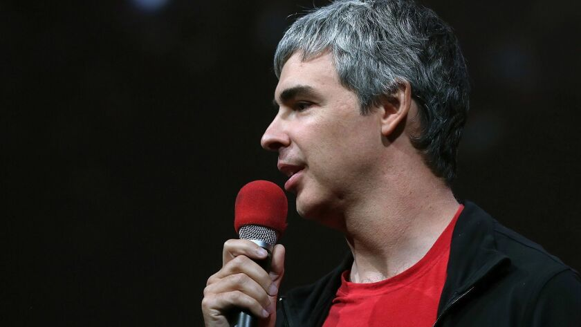 A lawsuit says Alphabet Chief Executive Larry Page, shown, awarded a $150-million stock grant to Android creator Andy Rubin before getting board approval.