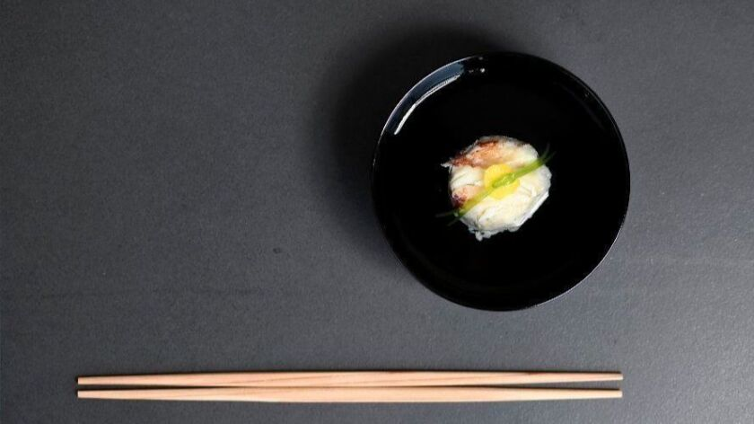 Dungeness crab suimono