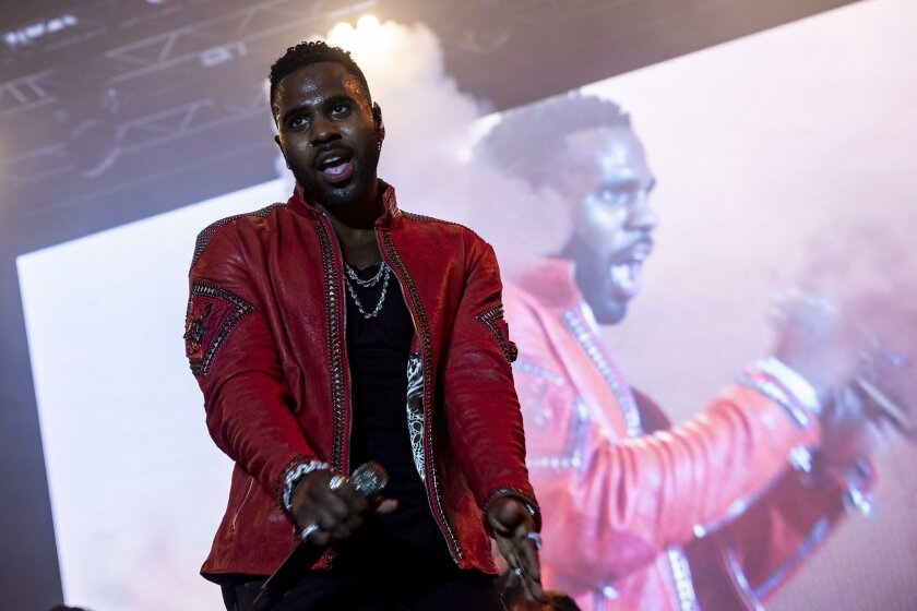 In this Aug. 5, 2018 photo Jason Derulo performs live at Budapest Park in Budapest, Hungary. He was supposed to perform in Prague, until safety concerns prevented it.