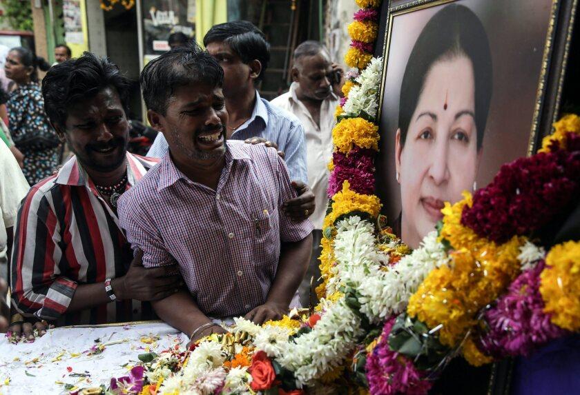 Tamil Nadu Chief Minister Jayalalithaa Jayaraman dies at age 68