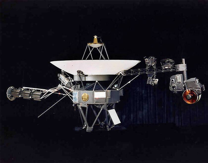 A NASA illustration depicts one of the twin Voyager spacecraft. NASA scientists Wednesday disputed an announcement that Voyager 1 had moved beyond the solar system and into interstellar space.