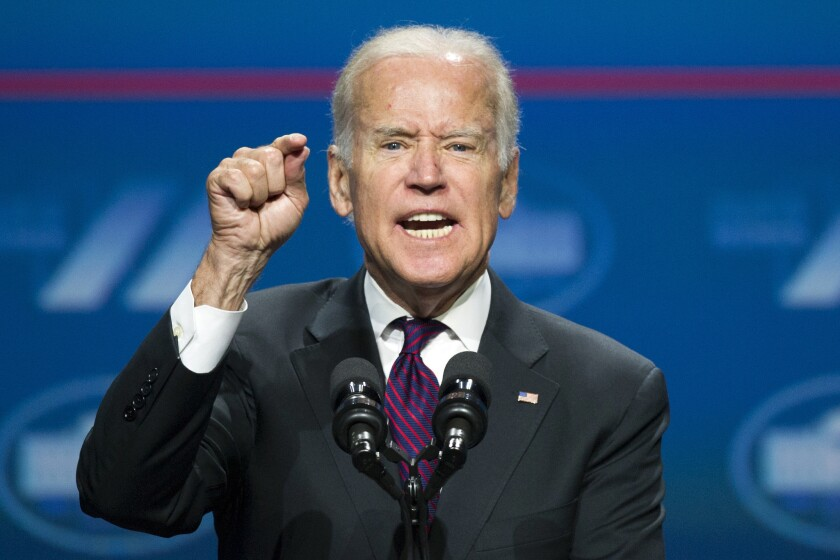 Former Vice President Joe Biden suggested that he would name his running mate about Aug. 1.