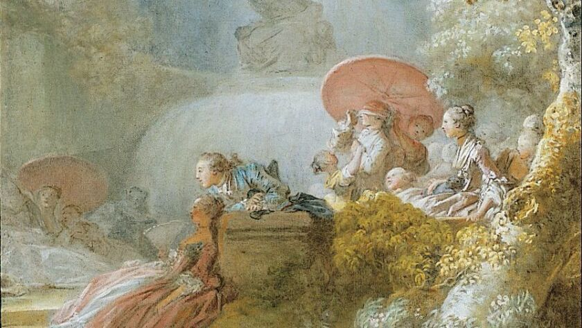 Jean-Honoré Fragonard, Blindman's Buff ca. 1775 – 80, Oil on canvas. Courtesy of the Timken Museum o