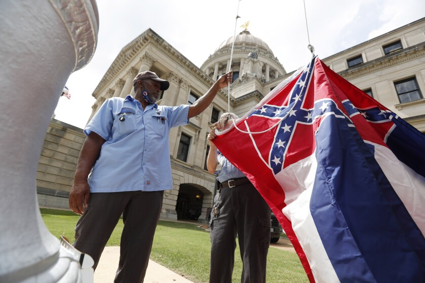 Mississippi lawmakers voted in June to retire the last state flag in the U.S. bearing the Confederate battle emblem.