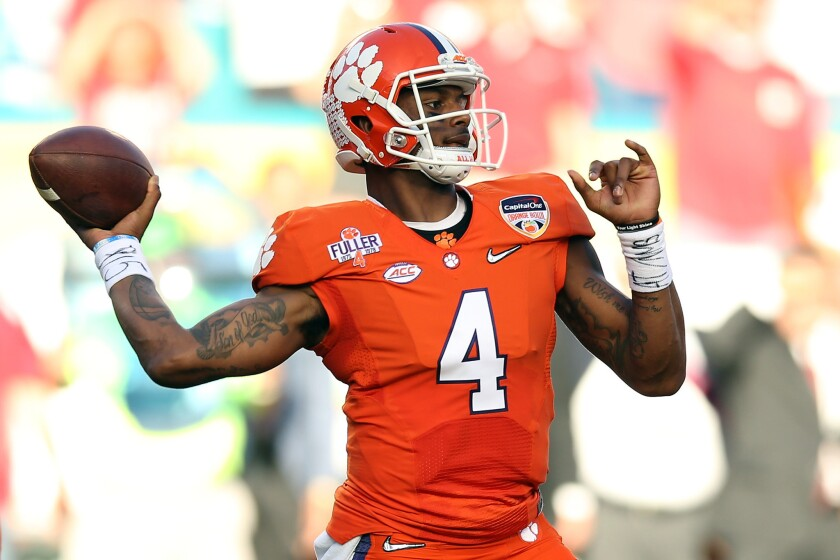 It's all (or mostly) about Deshaun Watson as Clemson faces Alabama for CFP national title