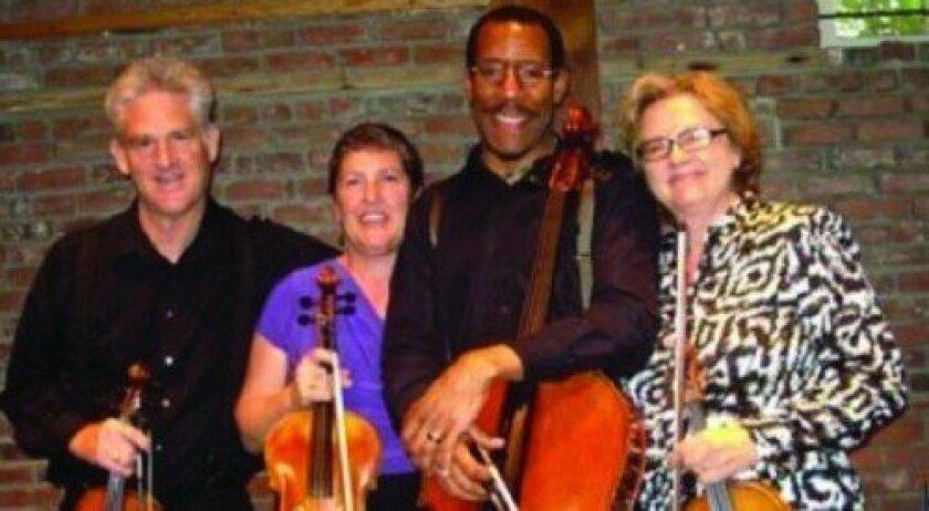 Quartetto Sorrento members, from left: Greg Lawrence, Paula Simmons, Gordon Grubbs and Alyze Dreiling