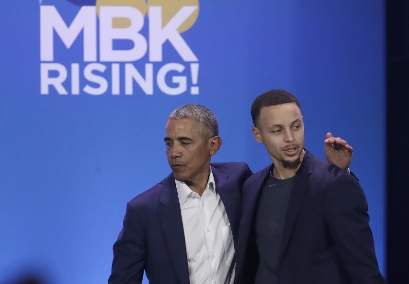 Barack Obama, Stephen Curry