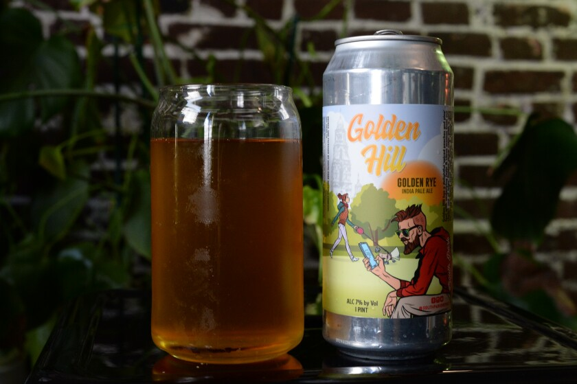 Golden Hill, a Golden Rye India Pale Ale from South Park Brewing Company.