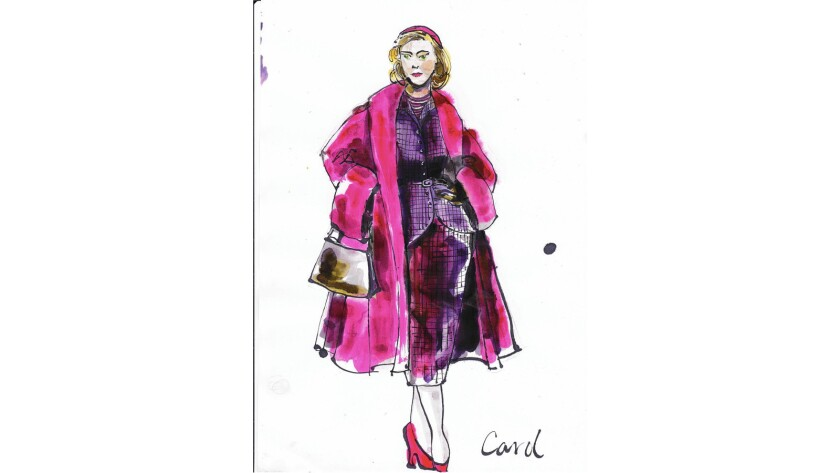 "Sketch of the title character in ""Carol"""