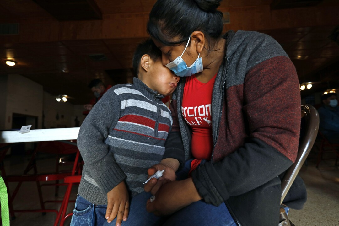 Hondurans Digna Canan Lopez and her son Eric, 5, crossed into the U.S. to seek asylum.